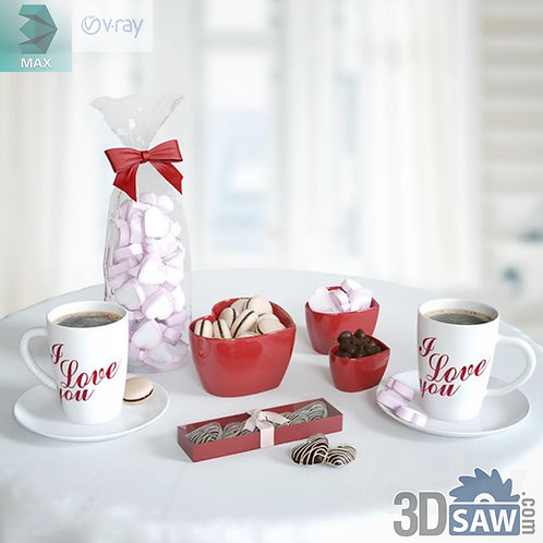 3ds Max Candy Tableware - Kitchen Items - 3d Model Free Download