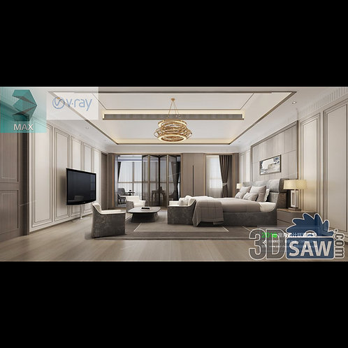 3d Model Interior Design Free Download - 3ds Max Bedroom Design - MX-947