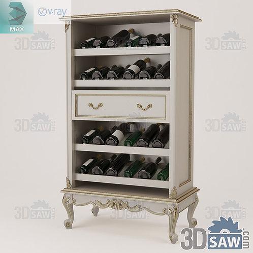 Cabinet Bottle Rack - Baroque Decor - Vintage Furniture - MX-427