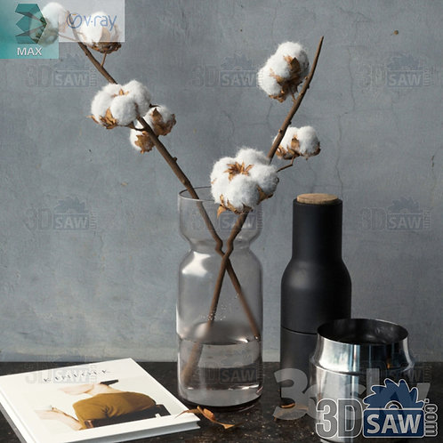 Flower Decor Set - Interior Decor Set - MX-0000322