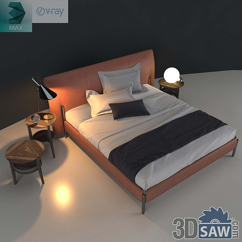 Bed Model - Bedroom Item Decor - MX-0000199