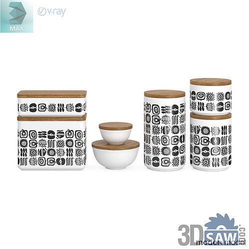 3ds Max Spice Box - Kitchen Items - 3d Model Free Download