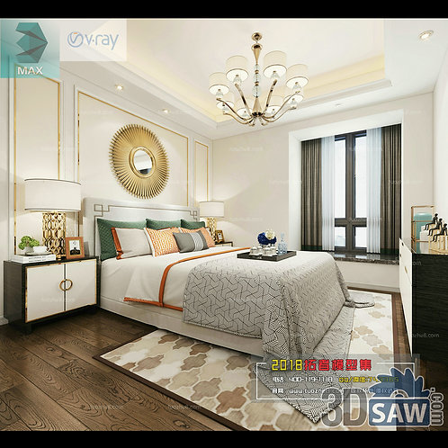 3d Model Interior Design Free Download - 3ds Max Bedroom Design - MX-926