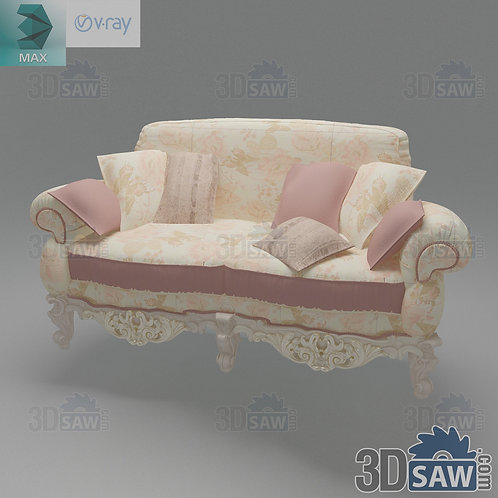 Sofa - Baroque Decor - Vintage Furniture - MX-444