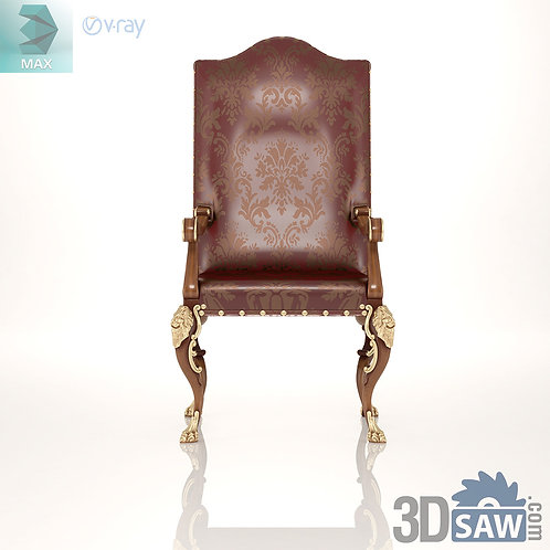 Armchair With Lion Legs - Baroque Vintage Furniture - MX-543