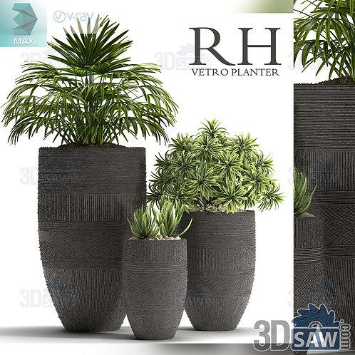 Flower Vase - Interior Plants - Planter - MX-0000315