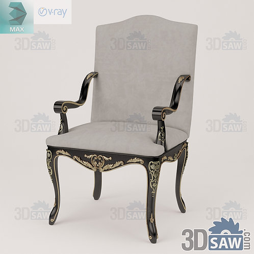 Armchair - Baroque Decor - Vintage Furniture - MX-481