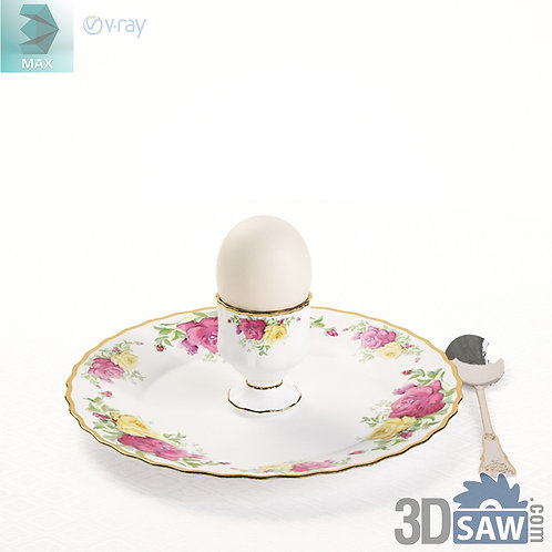 3ds Max Tableware Set - Egg cups - Kitchen Items - 3d Model Free Download