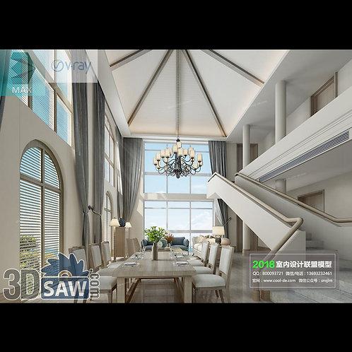 3d Model Interior Free Download - 3ds Max Living Room Decor - MX-1062