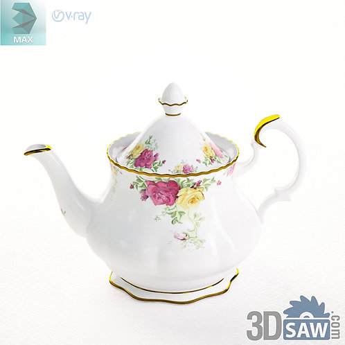 3ds Max Teapot  - Kitchen Items - 3d Model Free Download