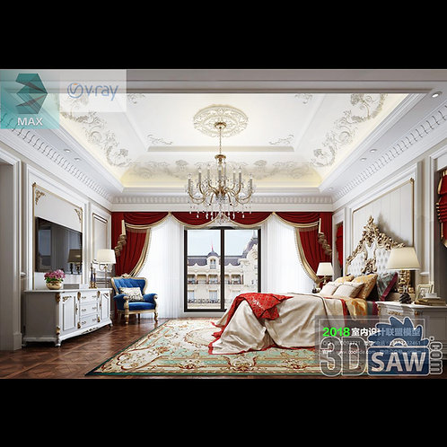 3d Model Interior Design Free Download - 3ds Max Bedroom Design - MX-940