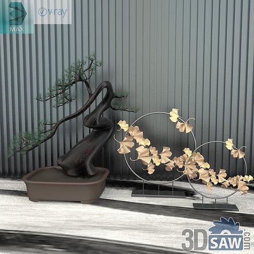 Bonsai Plants - Decor Set - Interior Plants - MX-618