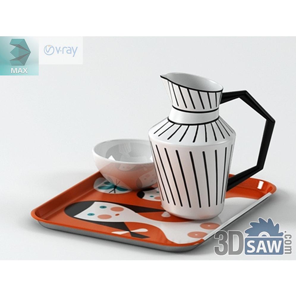 3ds Max Porcelain Jug - Kitchen Items - 3d Model Free