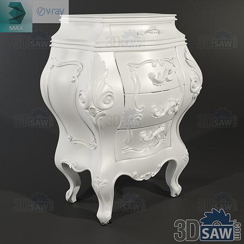 Bedside Table - Baroque Decor - Vintage Furniture - MX-0000365