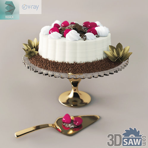3ds Max Foods Birthday Cake - Kitchen Items - 3d Model Free Download