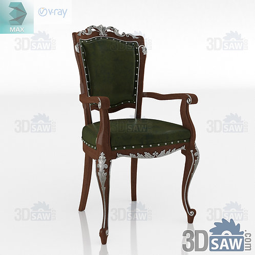 Chair With Armrest - Baroque Decor - Vintage Furniture - MX-0000382