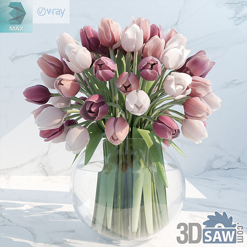 Flower Vase - Interior Plants - Tulips Flower - MX-569