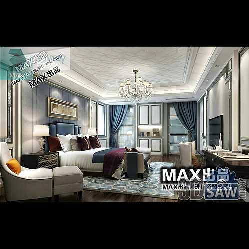 3d Model Interior Design Free Download - 3ds Max Bedroom Design - MX-912