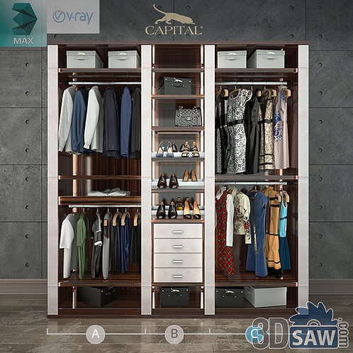 Wardrobe - Display Cabinets - Clothes - Sideboards - MX-727