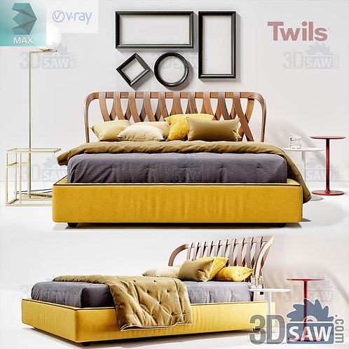 Bed Model - Bedroom Item Decor - MX-0000309