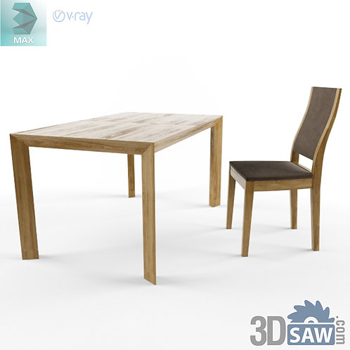 3ds Max Table And Chairs Model - 3d Model Free Download - MX-987