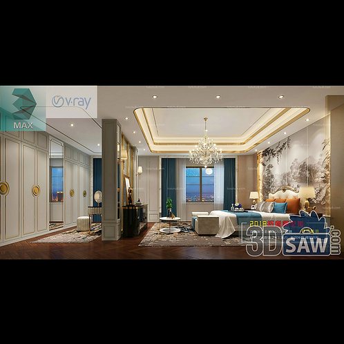 3d Model Interior Design Free Download - 3ds Max Bedroom Design - MX-902