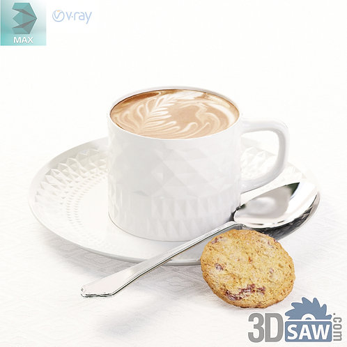 3ds Max Food - Coffee Cup - Kitchen Items - 3d Model Free Download