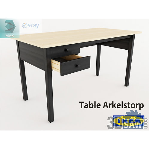 3ds Max Table Model - 3d Model Free Download - MX-1167