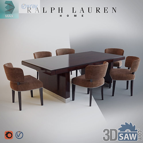 3ds Max Table And Chairs Model - 3d Model Free Download - MX-1126