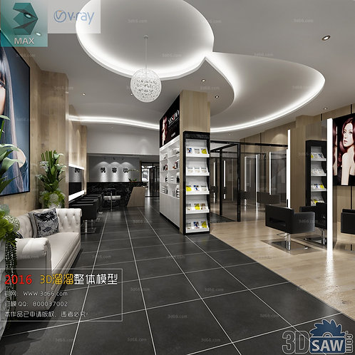 3d Interior Design - Store Design - 3DS Max Shop - Store Decoration Proj