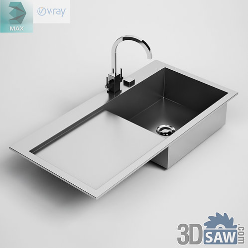 3ds Max Sink - Kitchen Items - 3d Model Free Download