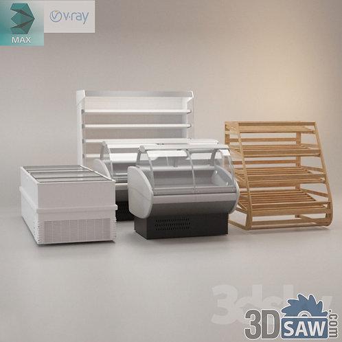 Supermarket Shelf - Food Display Case - MX-856