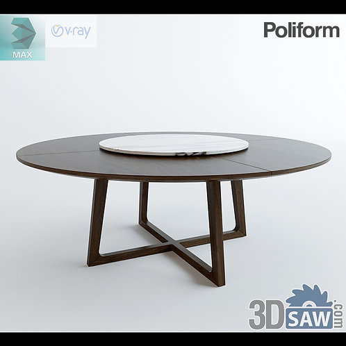 3ds Max Table Model - 3d Model Free Download - MX-1227