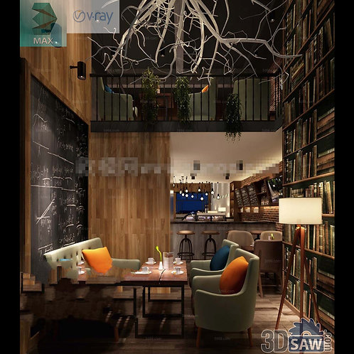 3d Interior Design - Coffee Shop Decor - 3DS Max Shop - Store Decoration