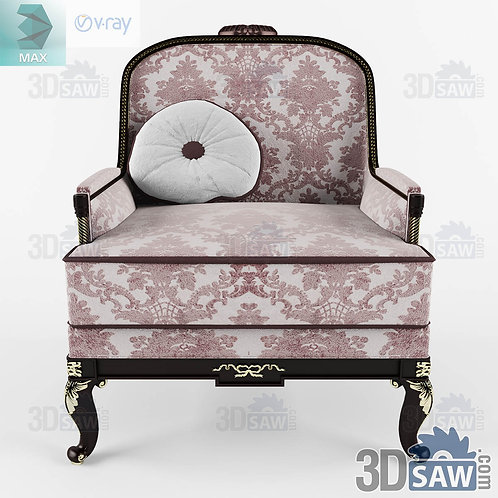 Armchair - Baroque Decor - Vintage Furniture - MX-443