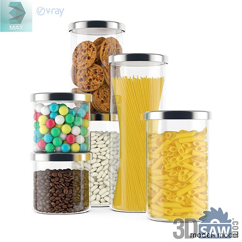 3ds Max Food Storage Container - Kitchen Items - 3d Model Free Download