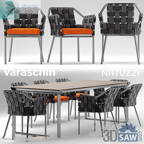 3ds Max Table And Chairs Model - 3d Model Free Download - MX-1094