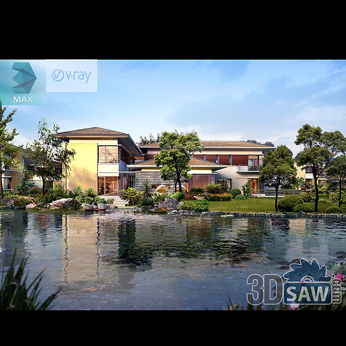 3d Exterior - 3d Landscaping - 3Ds Max Project Free Download - MX-771