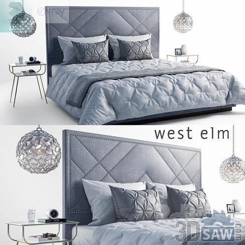 Bed Model - Bedroom Item Decor - MX-0000111