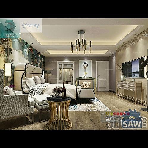 3d Model Interior Design Free Download - 3ds Max Bedroom Design - MX-913
