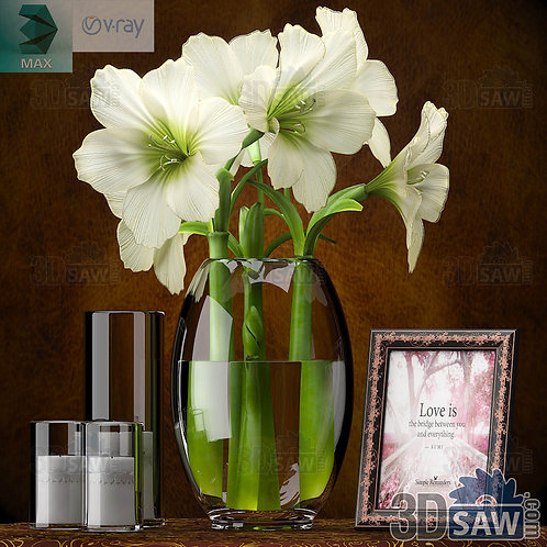 Flower Decor Set - Interior Decor Set - MX-0000298
