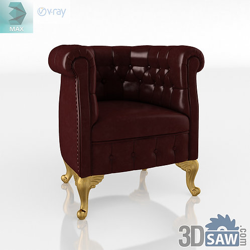 Chesterfield Armchair - Baroque Decor - Vintage Furniture - MX-525