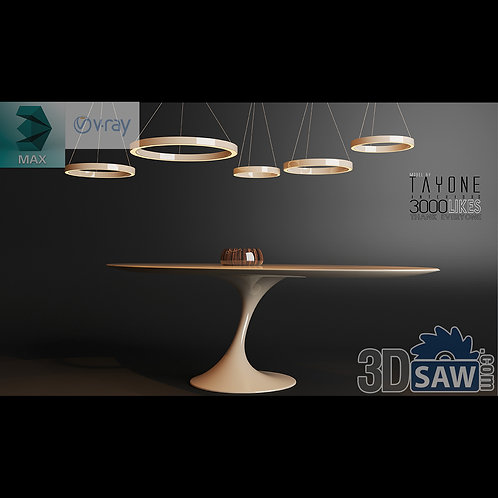 3ds Max Table Model - 3d Model Free Download - MX-1182