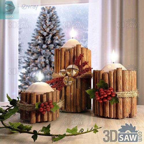 Christmas Decor - Candle Holde - MX-0000217