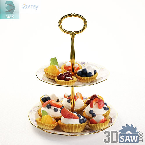 3ds Max Food - Cupcake Display - Kitchen Items - 3d Model Free Download