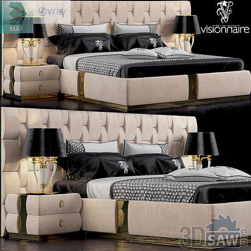 Bed Model - Bedroom Item Decor - MX-0000108