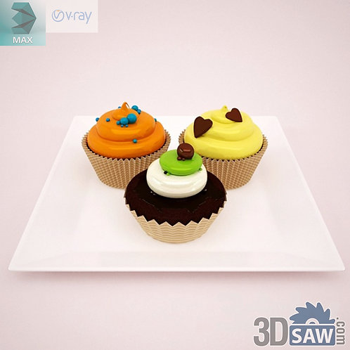 3ds Max Foods Cupcakes - Kitchen Items - 3d Model Free Download