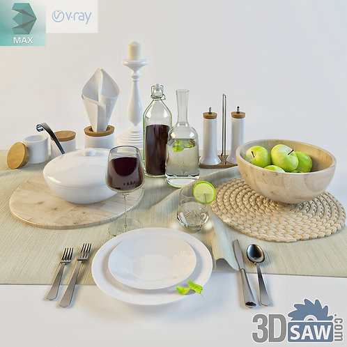 3ds Max Tableware - Kitchen Items - 3d Model Free Download
