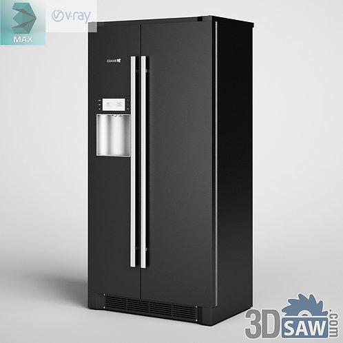 3ds Max Fridge - Kitchen Items - 3d Model Free Download