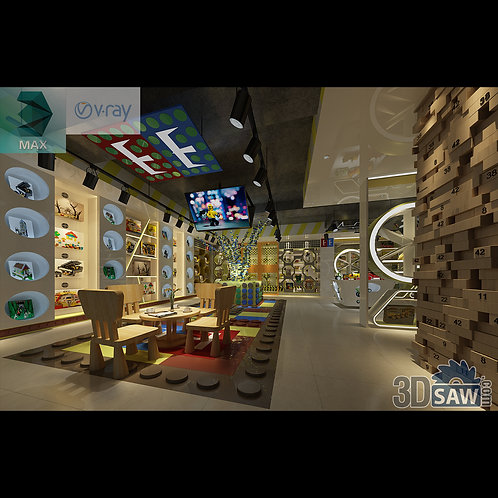3d Interior Design - Toy Store - 3DS Max Shop - Store - 3d Model Free Download